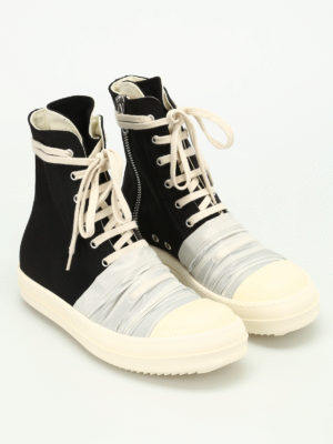 Rick Owens: trainers online - Hig-top fabric trainers