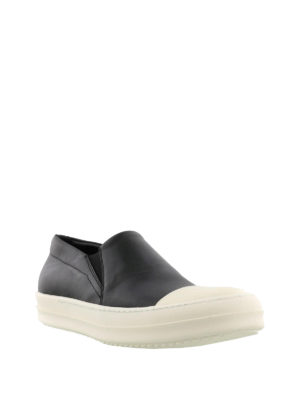 Rick Owens: trainers online - Leather lace-less sneakers