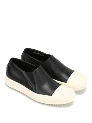 Rick Owens: trainers online - Two-tone leather slip ons