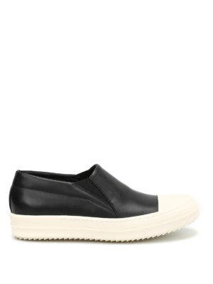 Rick Owens: trainers - Two-tone leather slip ons