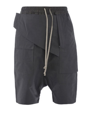 Rick Owens: Trousers Shorts - Cotton cargo shorts