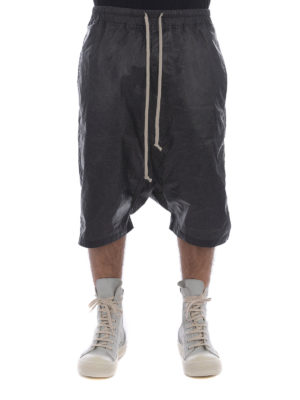 Rick Owens: Trousers Shorts online - Coated cotton shorts