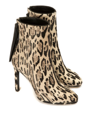 Roberto Cavalli: ankle boots online - Tassel detail haircalf booties