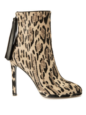 Roberto Cavalli: ankle boots - Tassel detail haircalf booties