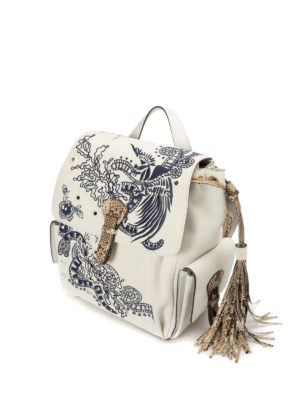 Roberto Cavalli: backpacks online - Suede and canvas small backpack