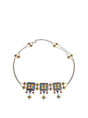 Roberto Cavalli: belts - Maxi Ethnic Deco chain belt