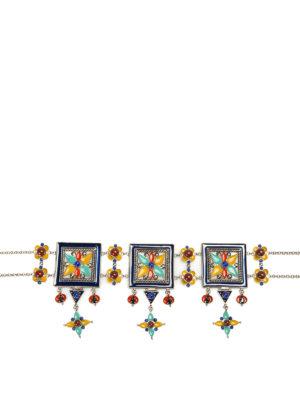 Roberto Cavalli: belts online - Maxi Ethnic Deco chain belt