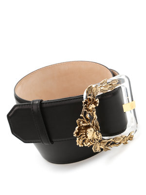 Roberto Cavalli: belts online - Plexi Blossom leather belt