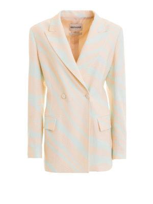 ROBERTO CAVALLI: giacche blazer - Blazer doppiopetto Heritage Zebra
