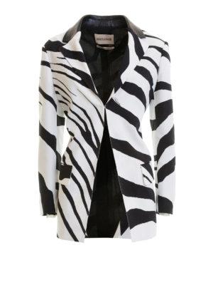ROBERTO CAVALLI: giacche blazer - Blazer in misto viscosa zebrato