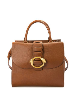 Roberto Cavalli: bowling bags - Hammered leather bowling bag