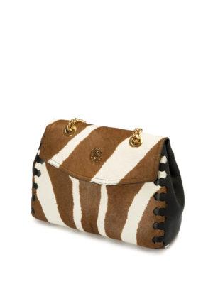 Roberto Cavalli: bowling bags online - Pony calf hair bowling bag