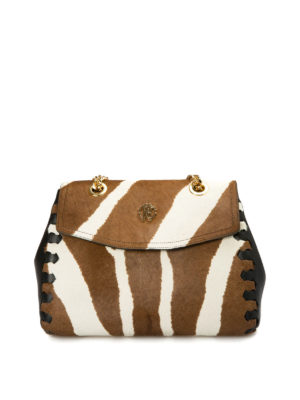 Roberto Cavalli: bowling bags - Pony calf hair bowling bag