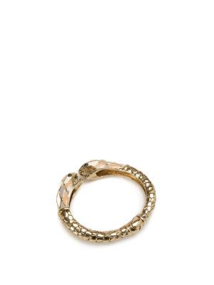 Roberto Cavalli: Bracelets & Bangles online - Enamel snake bangle