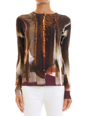 Roberto Cavalli: cardigans online - Scalloped edges knitted cardigan