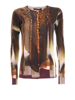 Roberto Cavalli: cardigans - Scalloped edges knitted cardigan
