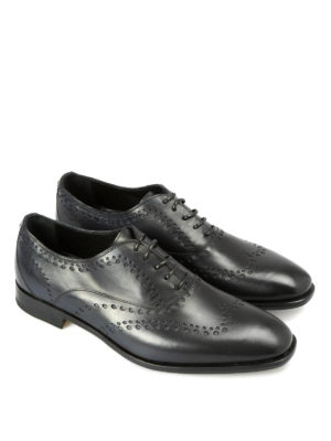 Roberto Cavalli: classic shoes online - Leather Oxford brogue