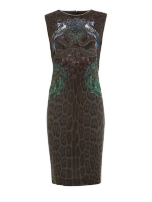 Roberto Cavalli: cocktail dresses - Chain embellished sheath dress