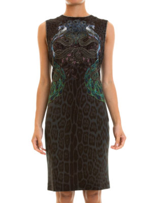 Roberto Cavalli: cocktail dresses online - Chain embellished sheath dress
