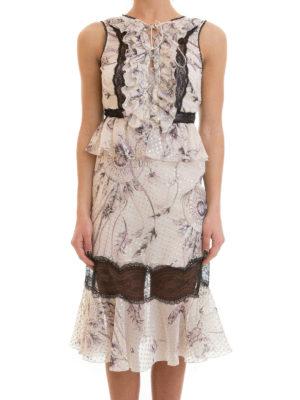 Roberto Cavalli: cocktail dresses online - Sleeveless floral silk blend dress