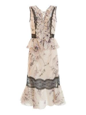 Roberto Cavalli: cocktail dresses - Sleeveless floral silk blend dress