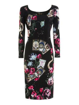 Roberto Cavalli: cocktail dresses - Tarot cards print sheath dress