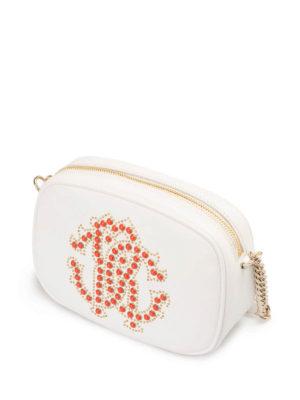 Roberto Cavalli: cross body bags online - Coral logo leather cross body bag
