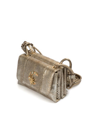 Roberto Cavalli: cross body bags online - Cosmo python leather crossbody