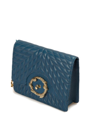 Roberto Cavalli: cross body bags online - Quilted leather cross body bag