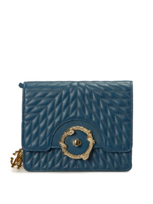 Roberto Cavalli: cross body bags - Quilted leather cross body bag
