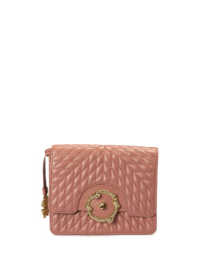 Roberto Cavalli: cross body bags - Quilted leather nude cross body bag