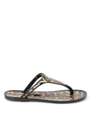 Roberto Cavalli: flip flops - Animal printed flip-flop