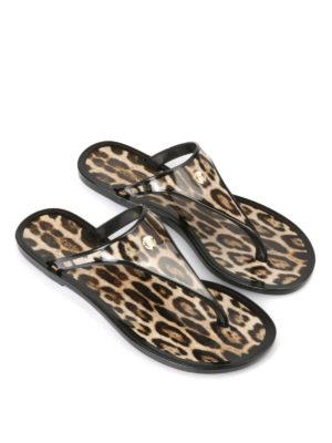 Roberto Cavalli: flip flops online - Animal printed flip-flop