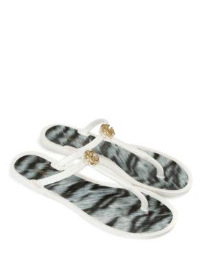 Roberto Cavalli: flip flops online - T-strap plastic flip flops