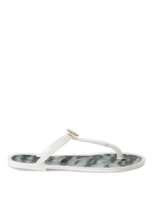 Roberto Cavalli: flip flops - T-strap plastic flip flops