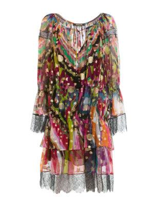 Roberto Cavalli: knee length dresses - Dreamscape flounced dress