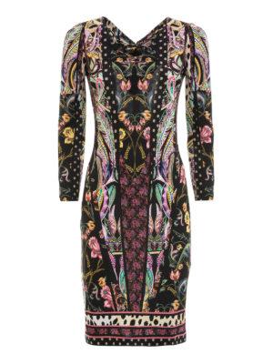 Roberto Cavalli: knee length dresses - Floral patterned jersey dress
