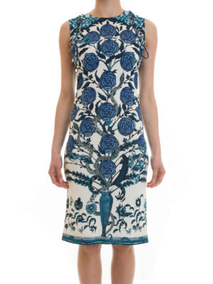 Roberto Cavalli: knee length dresses online - Floral patterned jersey dress