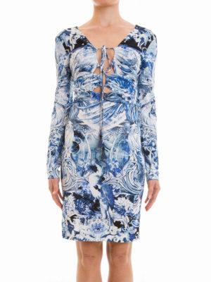 Roberto Cavalli: knee length dresses online - Phoenix jersey sheath dress