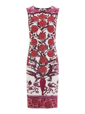 Roberto Cavalli: knee length dresses - Rose print jersey dress