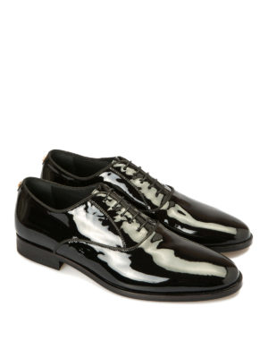 Roberto Cavalli: lace-ups shoes online - Studs trimmed patent Oxford shoes