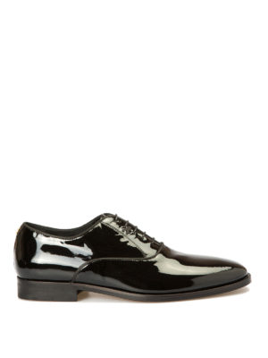 Roberto Cavalli: lace-ups shoes - Studs trimmed patent Oxford shoes
