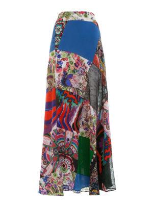 Roberto Cavalli: Long skirts - Enchanted garden silk skirt