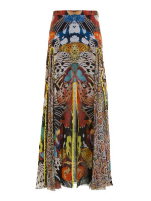Roberto Cavalli: Long skirts - Flying Wings georgette long skirt