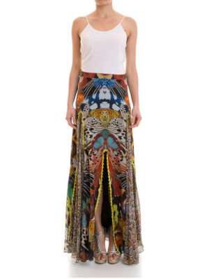 Roberto Cavalli: Long skirts online - Flying Wings georgette long skirt