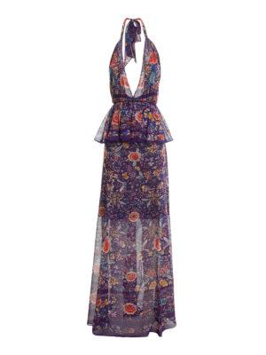 Roberto Cavalli: maxi dresses - Enchanted Garden silk maxi dress
