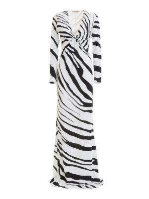 ROBERTO CAVALLI: abiti lunghi - Abito lungo stampa Macro Zebra