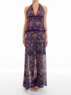 Roberto Cavalli: maxi dresses online - Enchanted Garden silk maxi dress