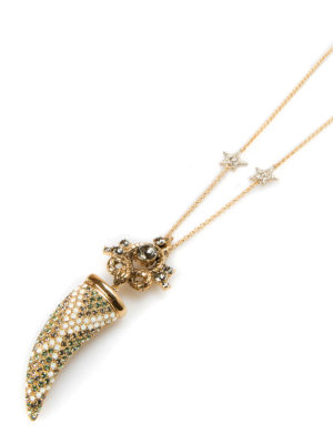 Roberto Cavalli: Necklaces & Chokers online - Strass horn charm with necklace