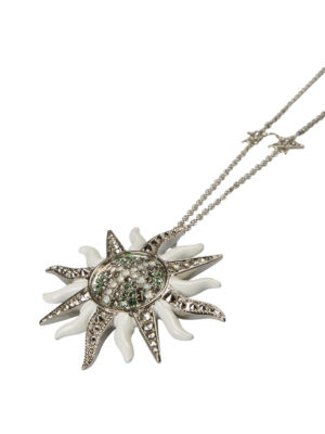 Roberto Cavalli: Necklaces & Chokers online - Strass sun charm with necklace